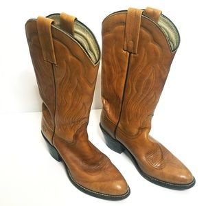 Frye Brown Leather Western Boots